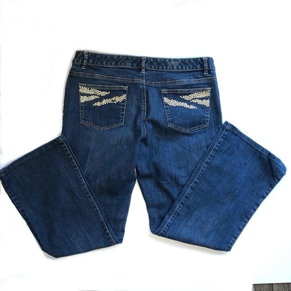 Michael Kors Denim - Michael Kors Boot Cut Jeans W/Gold Studded Pockets